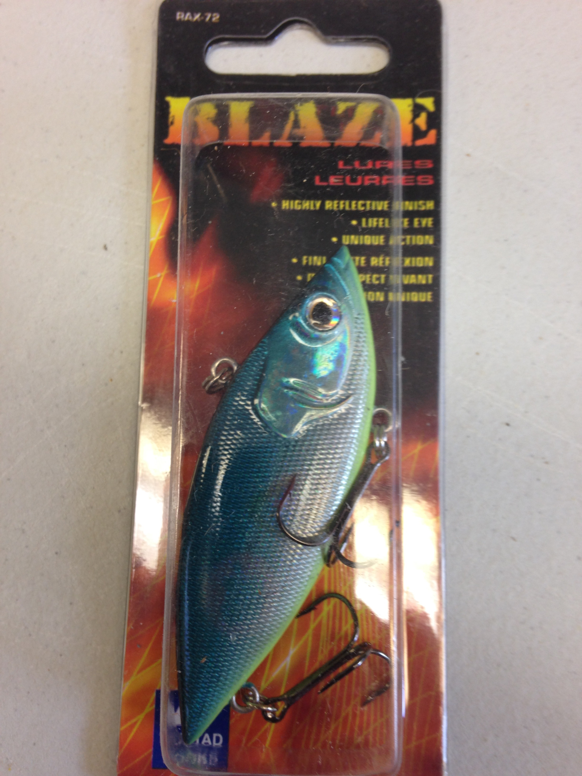 BLAZE TURQOUISE AND LIME GREEN LURE