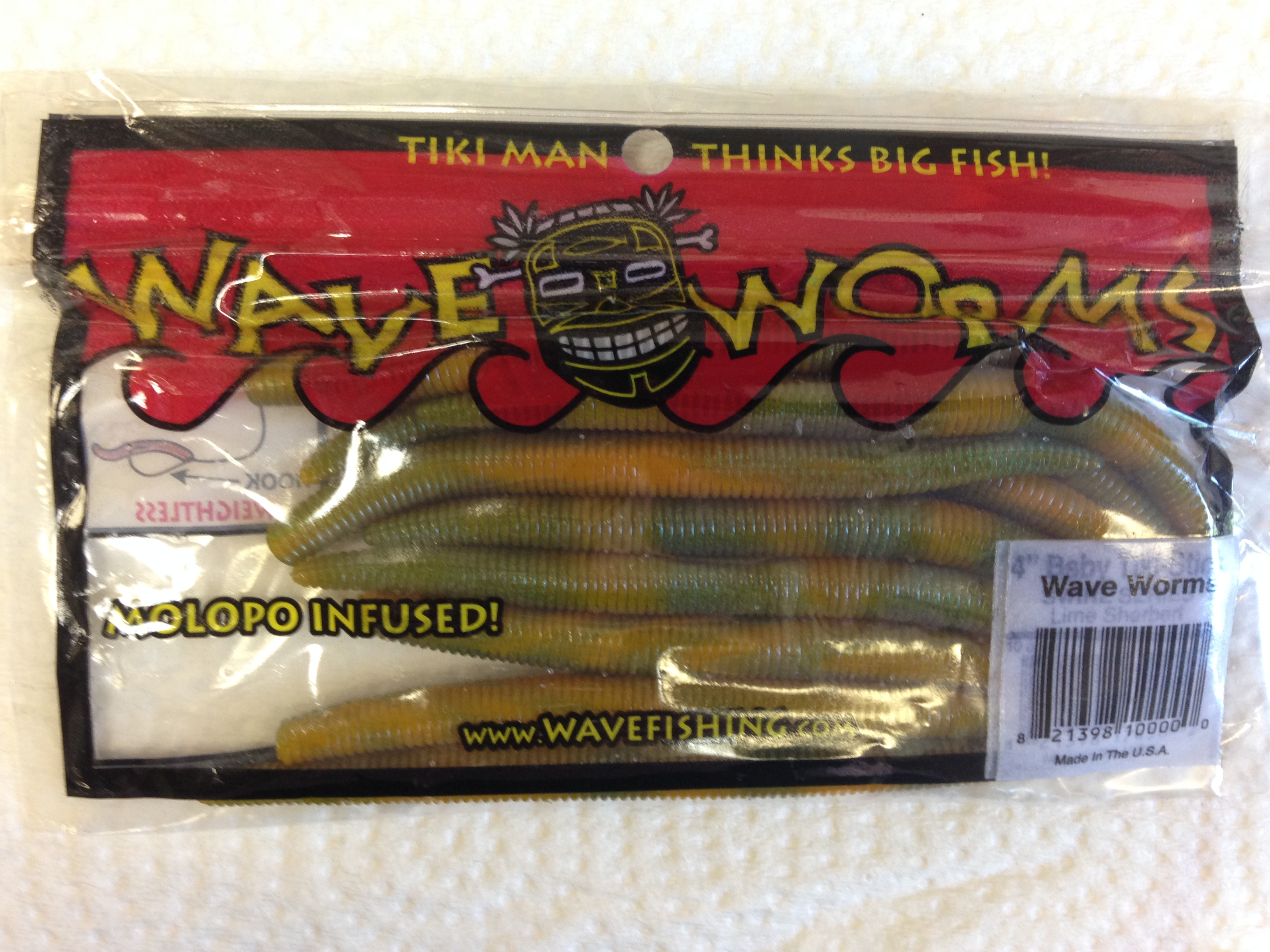 TIKI MAN WAVE WORMS LIME SHERBERT