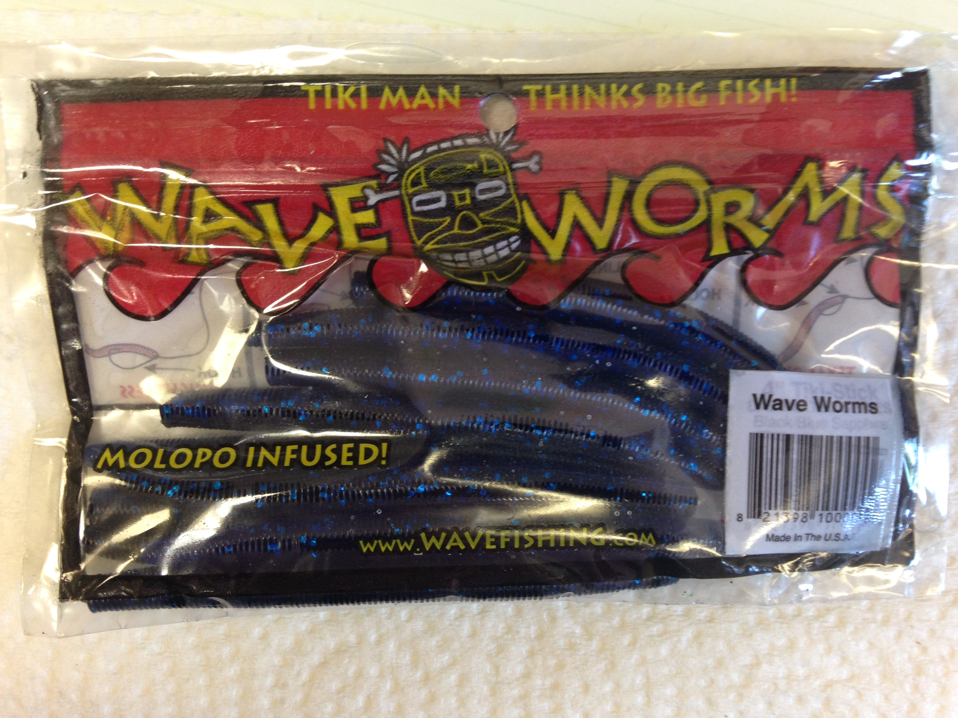 TIKI MAN WAVE WORMS BLACK/BLUE SAPPHIRE