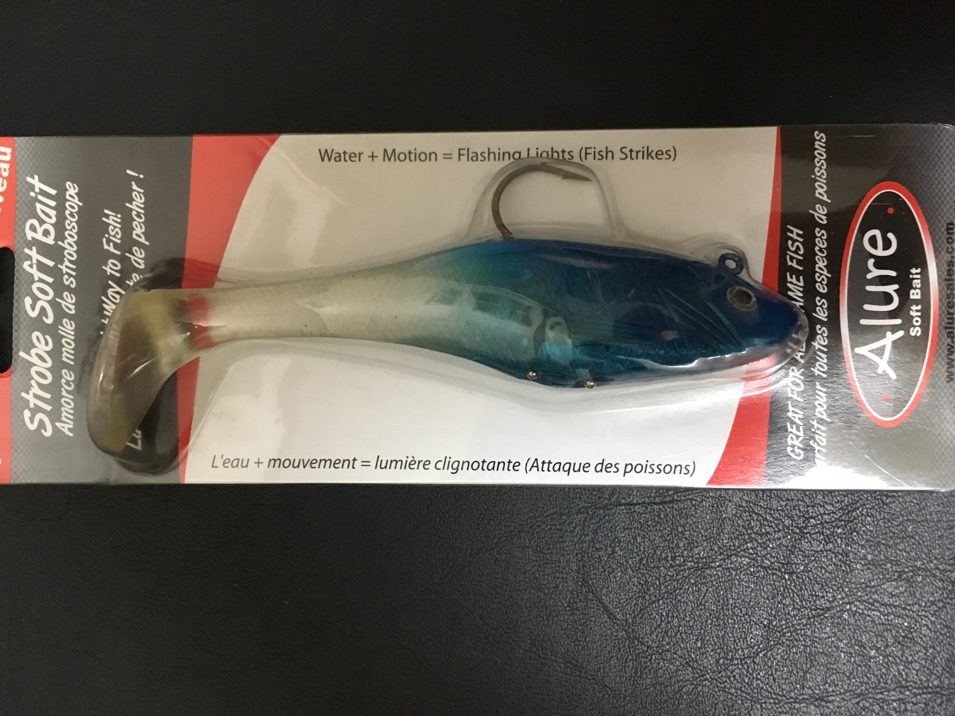 Alure Strobe Soft Baits in Blue